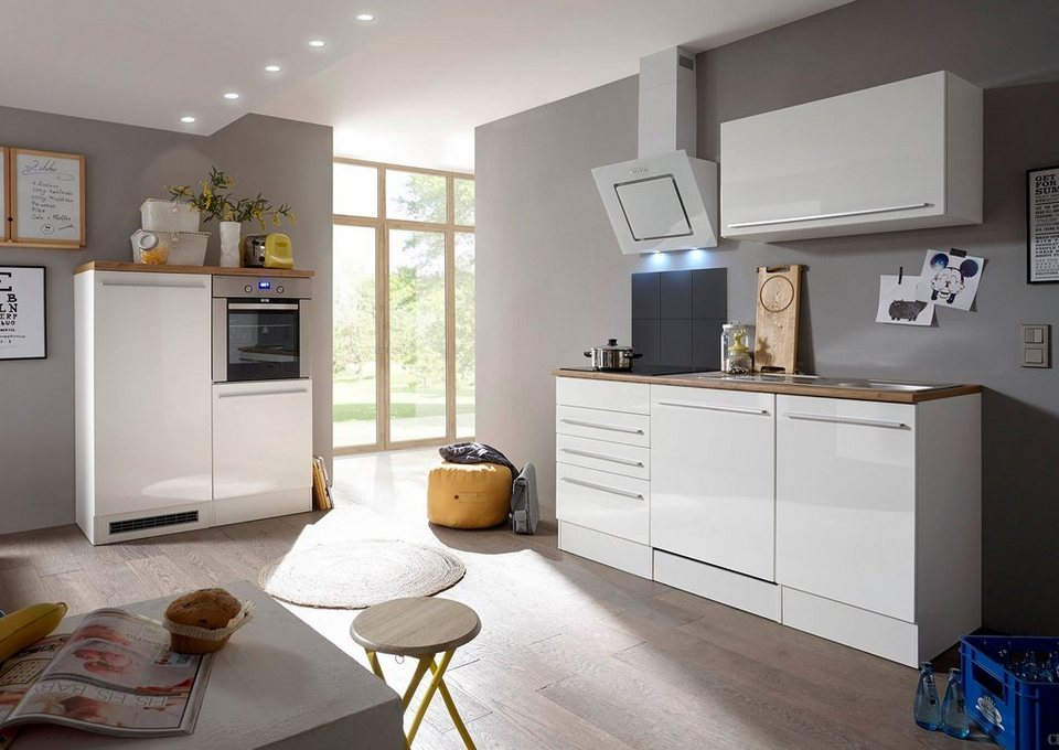 respekta k chenzeile mit e ger ten palma gesamtbreite 290 cm online kaufen otto. Black Bedroom Furniture Sets. Home Design Ideas