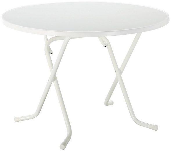 BEST Gartentisch »Primo«, klappbar, Stahl/Alcolit, ø 100 cm