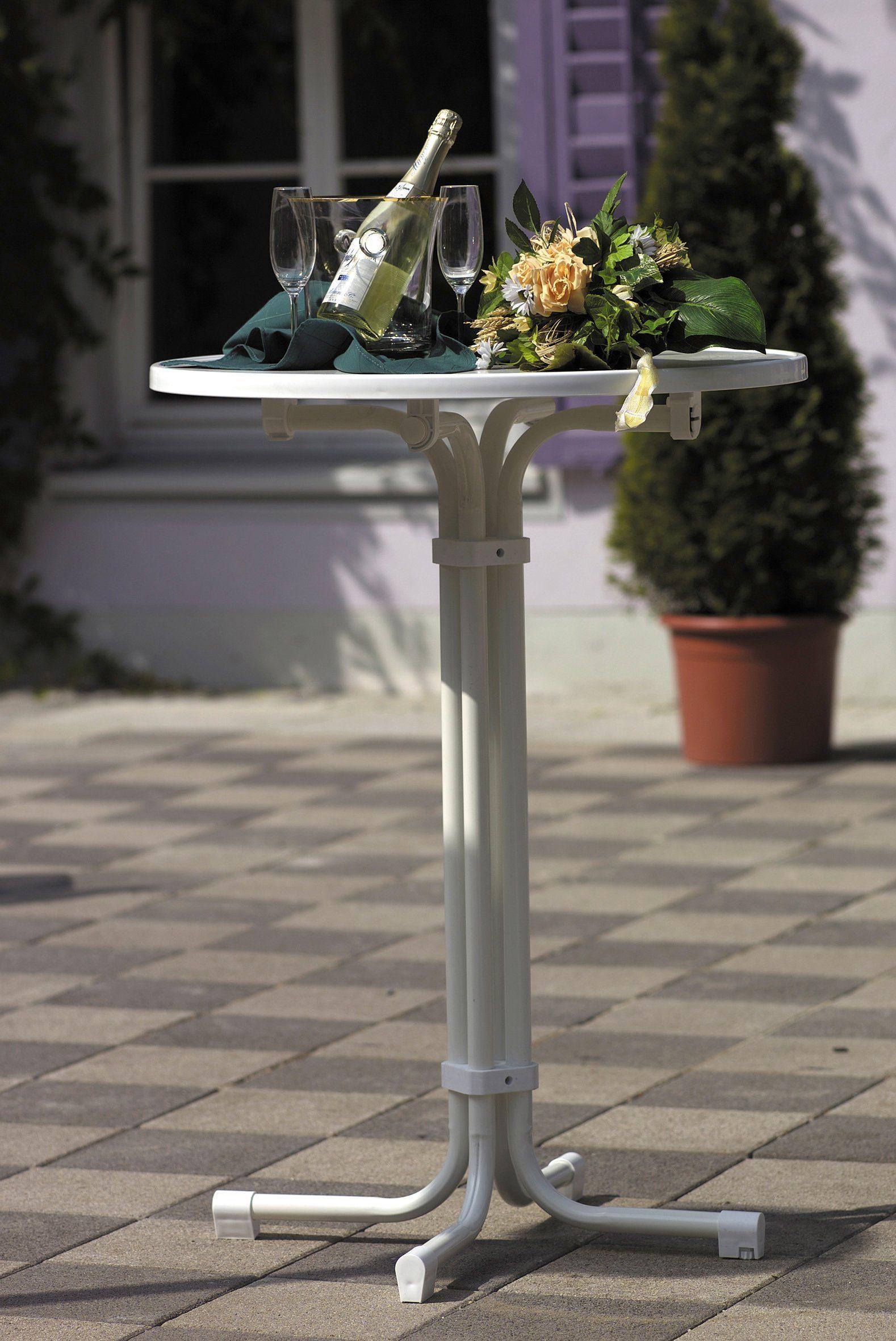 BEST Gartentisch »Multiflex«, klappbar, Stahl/Alcolit, ø 70 cm