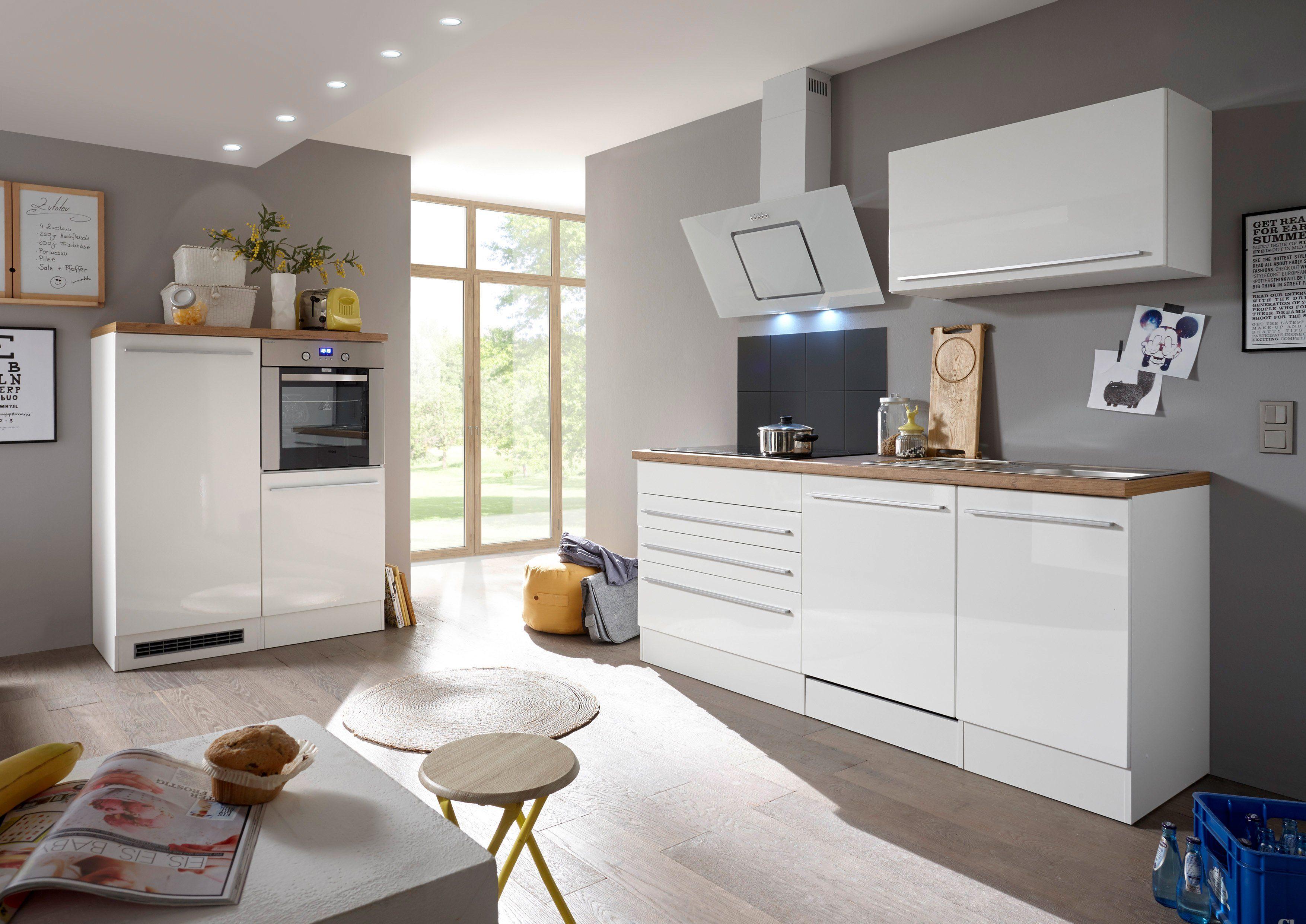 RESPEKTA Küchenzeile mit E-Geräten »Torin«, Gesamtbreite 320 cm