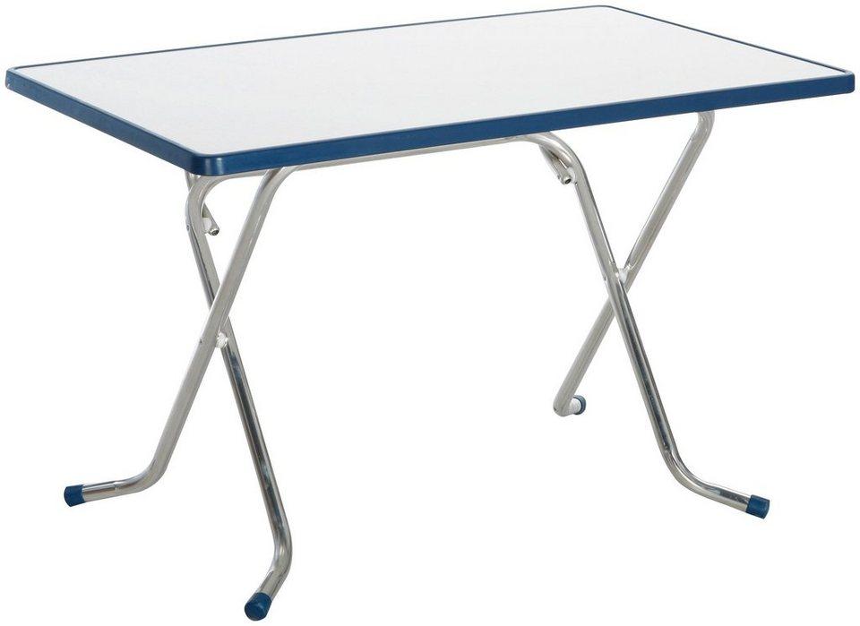 Gartentisch klappbar alu  BEST Gartentisch »Nizza«, klappbar, Alu/Alcolit, 110x70 cm online ...