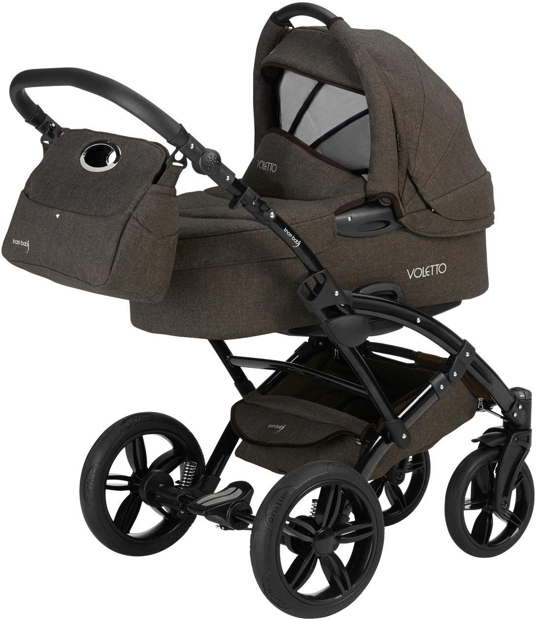 knorr-baby Kombi-Kinderwagen inkl. Babyschale, »Voletto, braun«