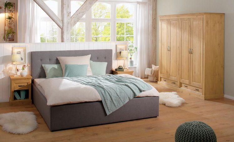 Home Affaire 4-türiger Kleiderschrank »Selma« für das Schlafzimmer, aus massiven Holz, Höhe 190 cm