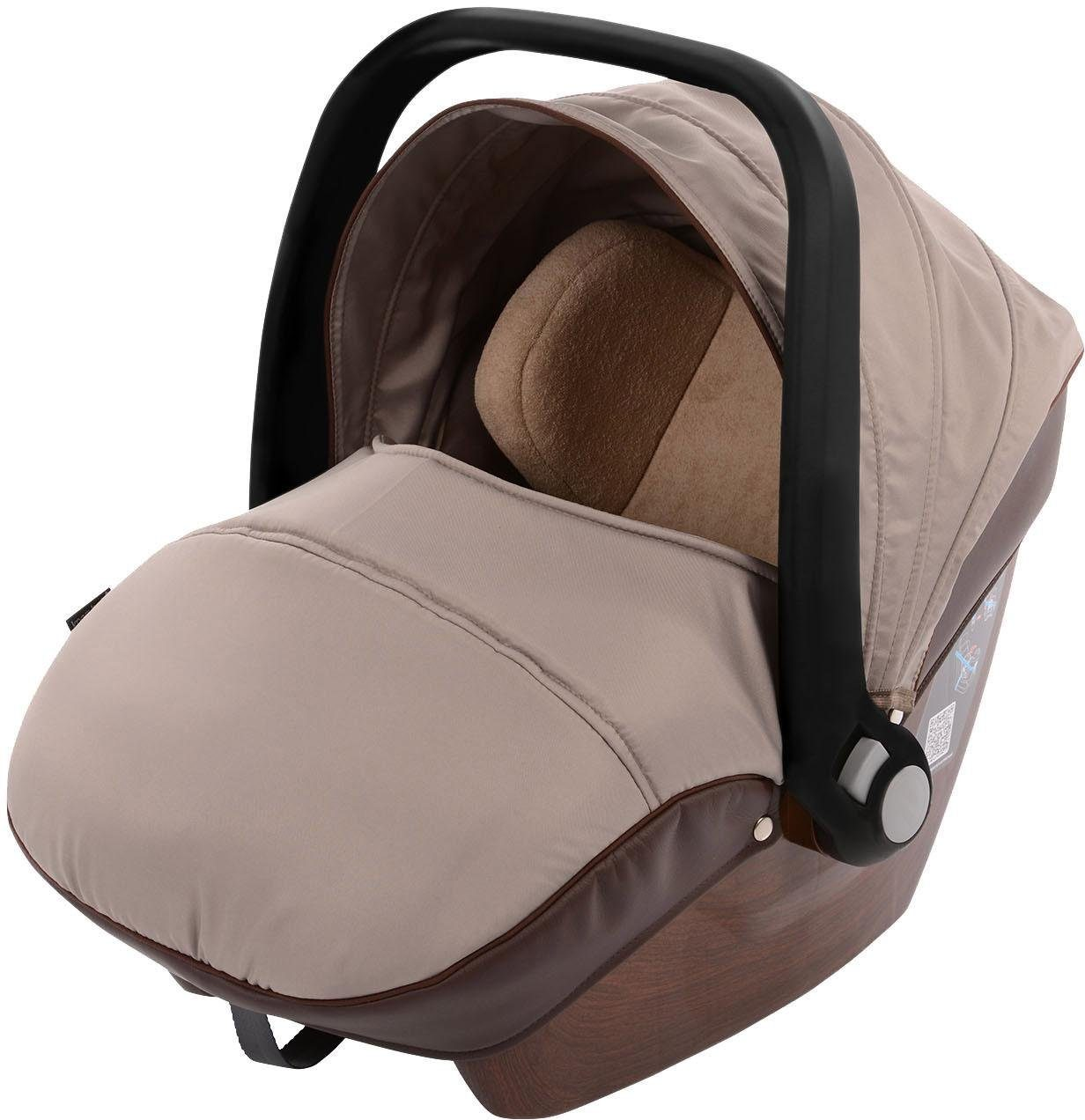 knorr-baby Babyschale, 0 - 13 kg, »Babyschale für Sportime Wood Art, braun«