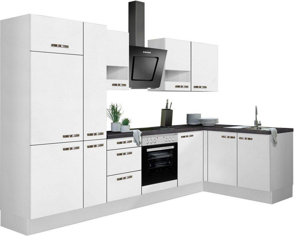 Fesselnd OPTIFIT Winkelküche »Cara«, Ohne E Geräte, Stellbreite 315 X 175 Cm