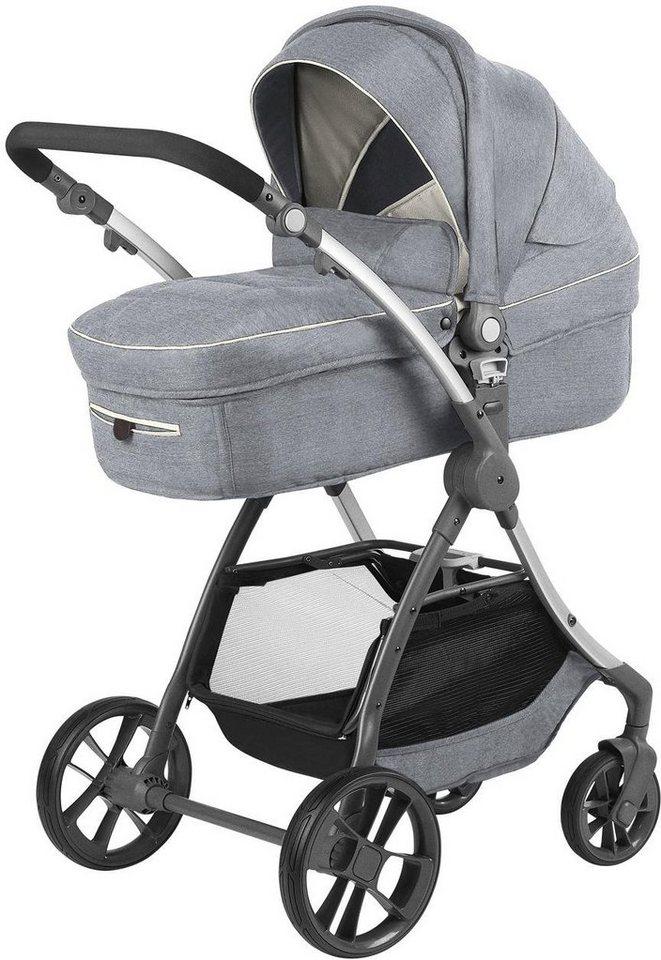 knorr baby kombi kinderwagen set yuu melange hellgrau online kaufen otto. Black Bedroom Furniture Sets. Home Design Ideas