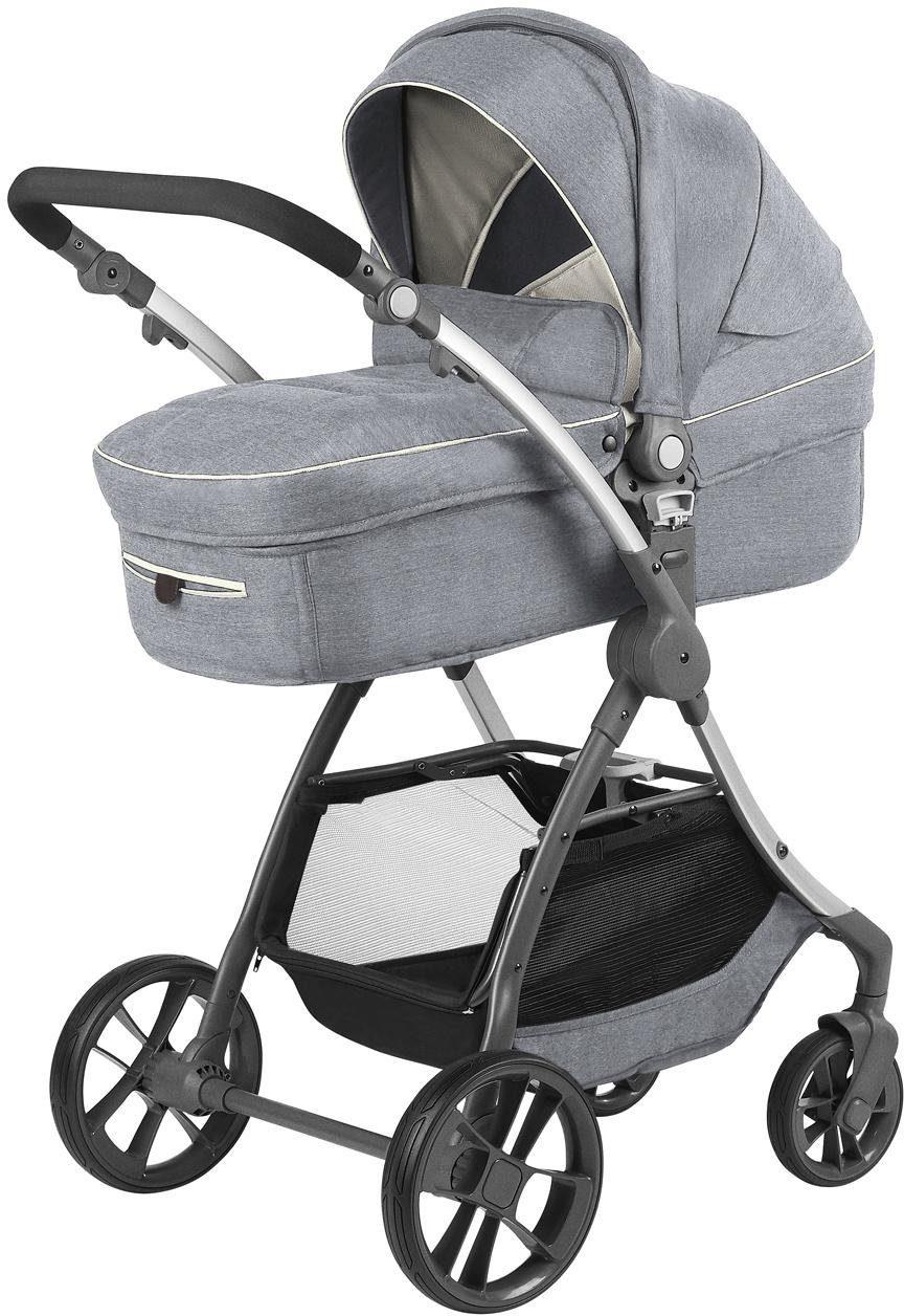 knorr-baby Kombi-Kinderwagen, »Yuu, melange hellgrau«