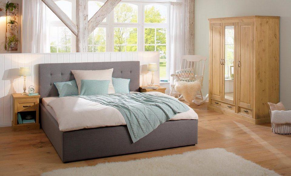 Home Affaire 3-türiger Kleiderschrank »Selma« für das Schlafzimmer, aus  massiven Holz, Höhe 190 cm, Mit Spiegel online kaufen | OTTO