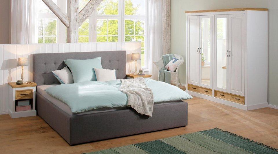Home Affaire 4-türiger Kleiderschrank »Selma« für das Schlafzimmer, aus  massiven Holz, Höhe 190 cm, Mit Spiegel online kaufen | OTTO