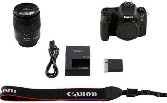 Canon »EOS 77D + EF-S 18-135mm 1:3,5-5,6 IS USM« Spiegelreflexkamera (EF-S 18-135mm 1:3,5-5,6 IS USM, 24,2 MP, NFC, WLAN (Wi-Fi), Bluetooth)