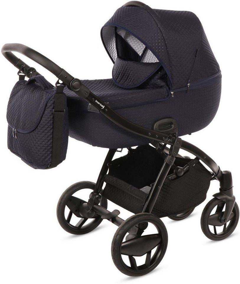 knorr baby kombi kinderwagen set piquetto marine blau. Black Bedroom Furniture Sets. Home Design Ideas