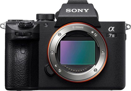Sony »ILCE-7M3B - Alpha 7 III E-Mount« Systemkamera (24,2 MP, Exmor R CMOS Vollformatsensor, 7,5 cm (3 Zoll) Touch-Display, 2 Kartenslots, NFC, Bluetooth, WLAN (Wi-Fi), nur Gehäuse)