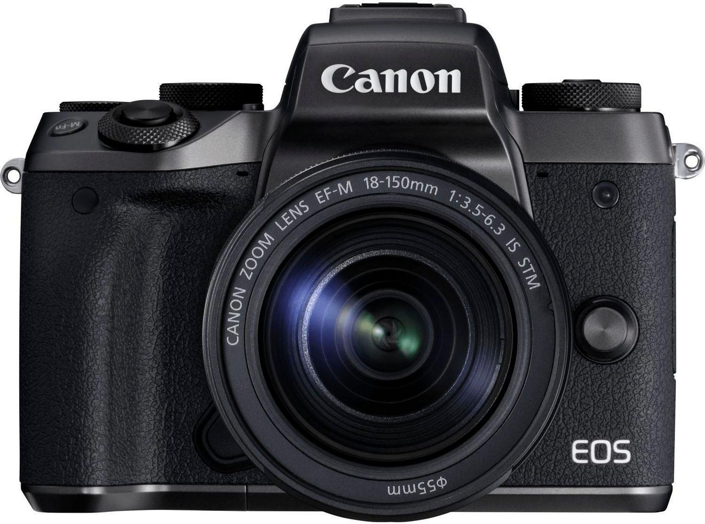 Systemkameras - Canon »EOS M5 EF M 18 150mm 1 3,5 6,3 IS STM« Systemkamera (EF M 18 150mm 1 3,5 6,3 IS STM, 24,2 MP, 8,3x opt. Zoom, NFC, WLAN (Wi Fi), Bluetooth)  - Onlineshop OTTO