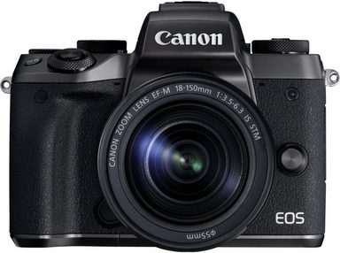 Canon »EOS M5 + EF-M 18-150mm 1:3,5-6,3 IS STM« Systemkamera (EF-M 18-150mm 1:3,5-6,3 IS STM, 24,2 MP, 8,3x opt. Zoom, NFC, WLAN (Wi-Fi), Bluetooth)