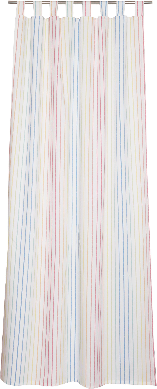 Vorhang »E-Stripe-Stars«, Esprit, Ösen (1 Stück), bedruckt mit bunten Streifen