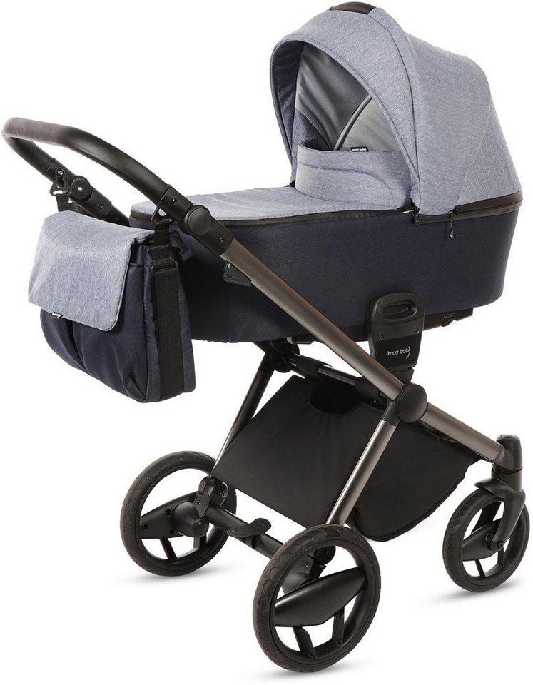 knorr baby kombi kinderwagen set life jeansblau marine. Black Bedroom Furniture Sets. Home Design Ideas