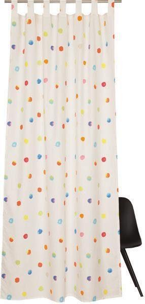 Vorhang »E-Points«, Esprit, Schlaufen (1 Stück), bedruckt mit bunten Punkten