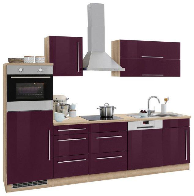 Einbauküchen - HELD MÖBEL Küchenzeile »Samos«, ohne E Geräte, Breite 280 cm  - Onlineshop OTTO