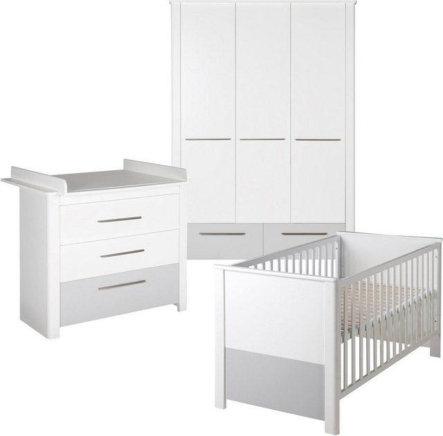 Roba Babyzimmer Set (3-tlg.), Kinderzimmer, »Linus« | Kinderzimmer > Babymöbel > Komplett-Babyzimmer | Abs - Spanplatte | Roba®