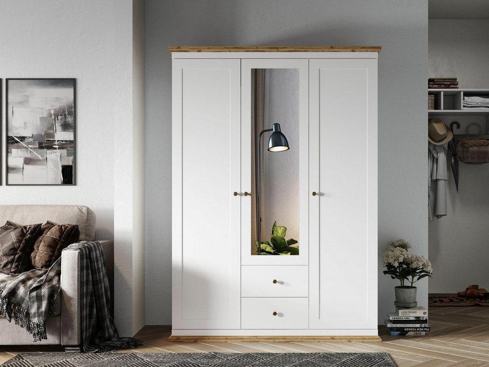 home affaire kleiderschrank banburry in verschiedenen gr en mit jeweils 2 schubladen online. Black Bedroom Furniture Sets. Home Design Ideas