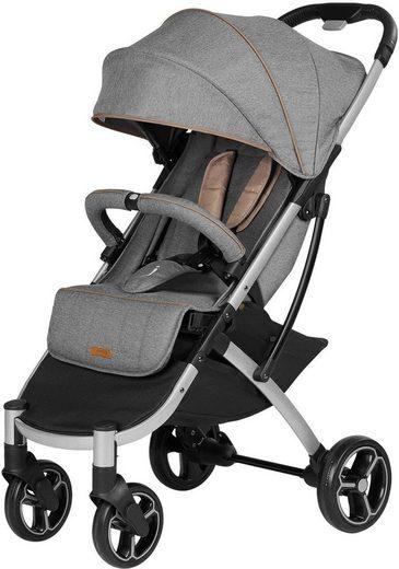 Knorrbaby Kinder-Buggy »X-Easy-Fold, melange grau«, mit schwenk- und feststellbaren Vorderrädern