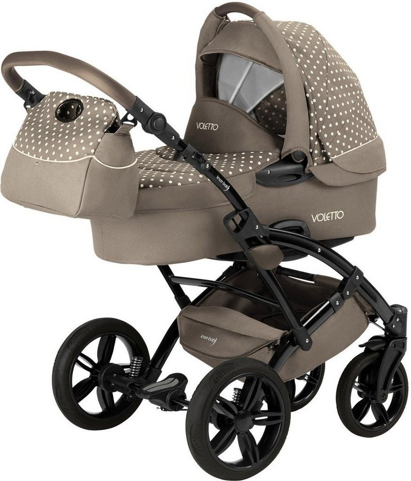 Knorr-baby Kombi-Kinderwagen Set,  Voletto Tupfen, sand-creme  online kaufen