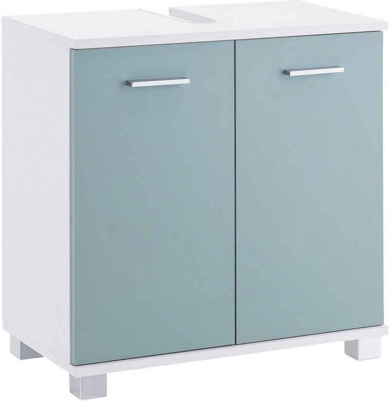 Schildmeyer Waschbeckenunterschrank »Lumo« Breite 60 cm, mit 2 Türen & Metallgriffen