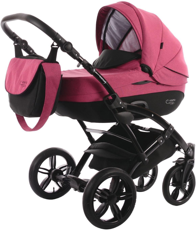 knorr-baby Kombi-Kinderwagen Set, »Voletto Carryo, schwarz-pink«