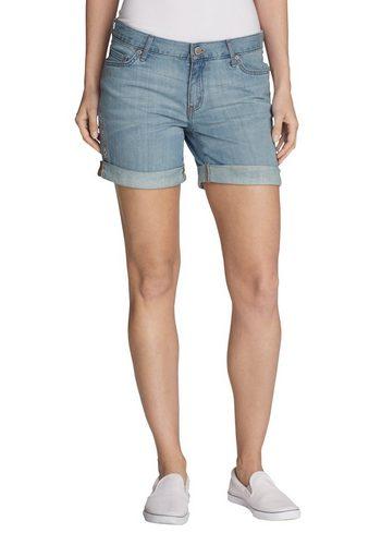 Damen,Kinder,Jungen Eddie Bauer Jeansshorts Boyfriend Jeans-Shorts – bestickt blau | 04057682307220