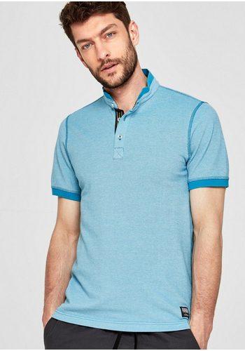 Herren s.Oliver RED LABEL Slim: Poloshirt aus Piqué blau | 04059998202985