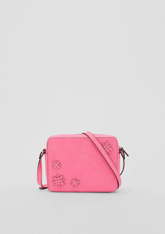 s.Oliver BLACK LABEL City Bag mit Blüten-Applikation