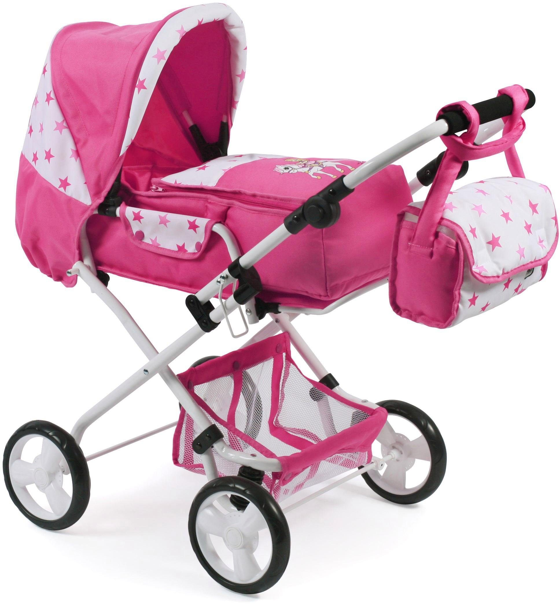 CHIC2000 Kombi Puppenwagen mit herausnehmbarer Tragetasche, »Bambina, Princess«