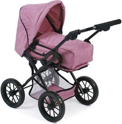 CHIC2000 Kombi Puppenwagen mit herausnehmbarer Tragetasche, »Leni, Jeans Pink«