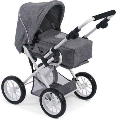 CHIC2000 Kombi Puppenwagen mit herausnehmbarer Tragetasche, »Leni, Jeans Grey«