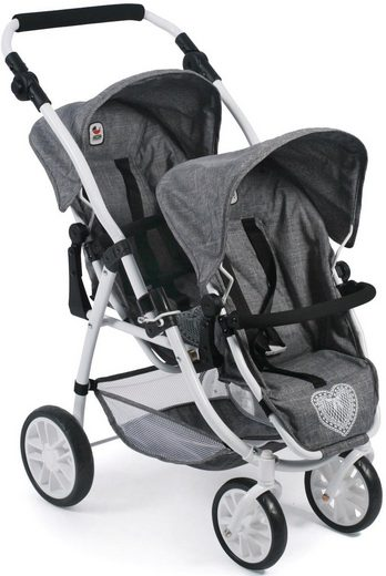 CHIC2000 Puppen-Zwillingsbuggy »Vario, Jeans Grey«