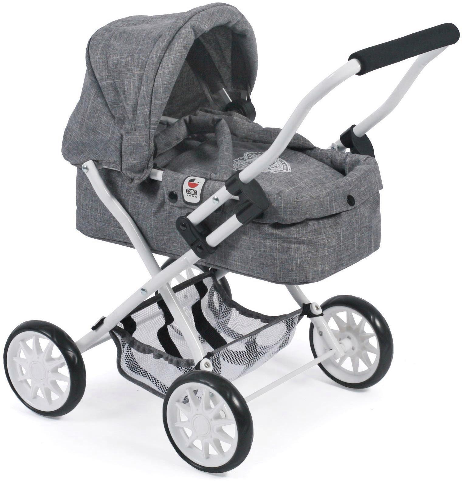 CHIC2000 Mini Puppenwagen mit herausnehmbarer Tragetasche, »Smarty, Jeans Grey«