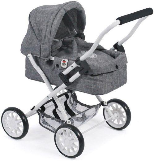 CHIC2000 Puppenwagen »Smarty, Jeans Grey«, mit herausnehmbarer Tragetasche