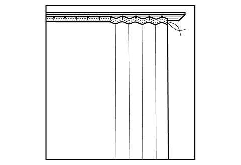 Gardine, Weckbrodt-Gardinen, »Adria«, mit Kräuselband (1 Stück)