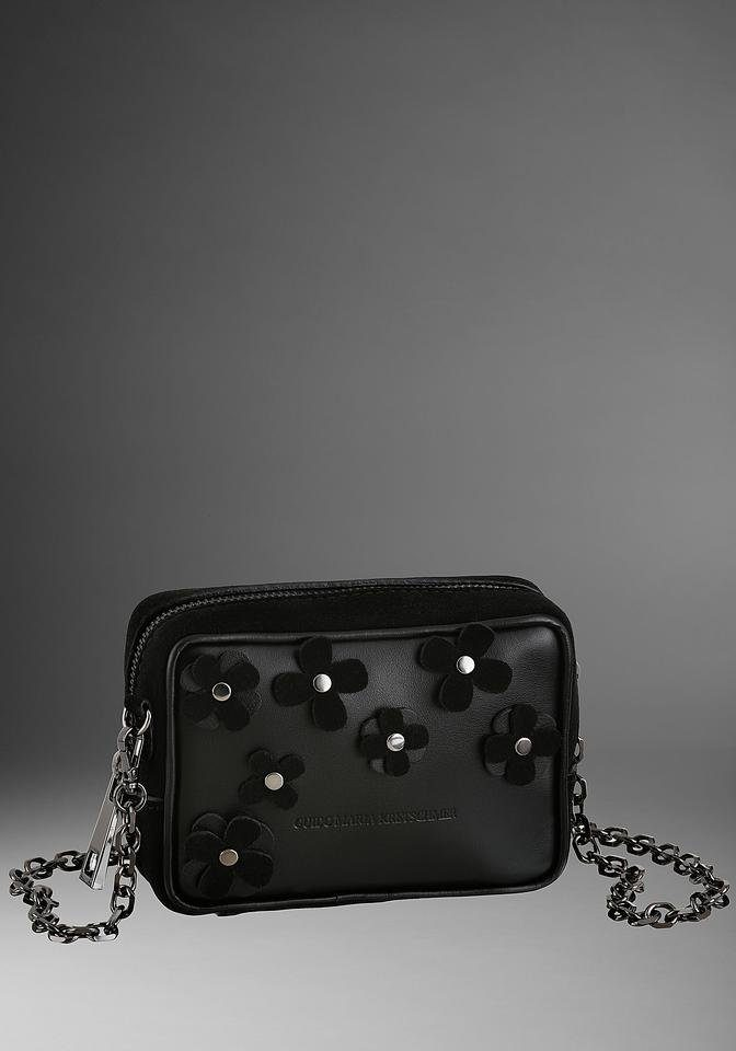GUIDO MARIA KRETSCHMER Mini Bag, aus Leder mit Blütenapplikation