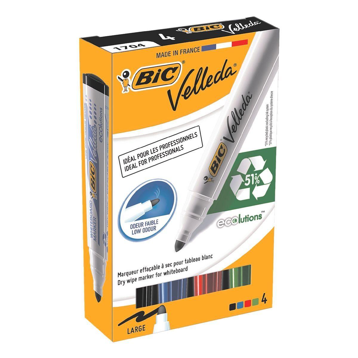 BIC 4er-Pack Whiteboard Marker »Velleda 1701«