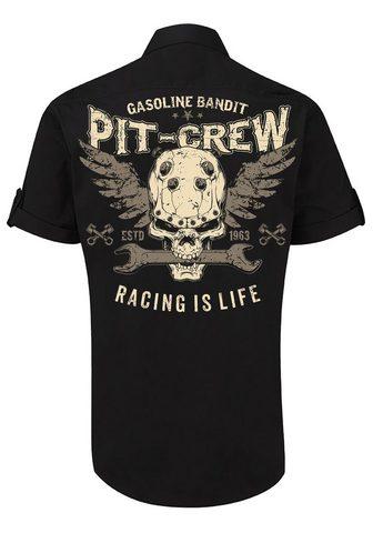 GASOLINE BANDIT ® Marškiniai su Rockabilly-Rückendruck...