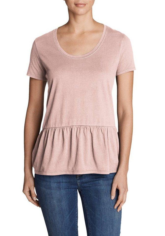 Damen Eddie Bauer  T-Shirt Gypsum T-Shirt Peplum – Uni braun | 04057682282213