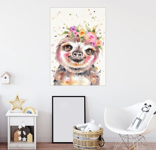 Posterlounge Wandbild - Sillier Than Sally »Little Sloth«