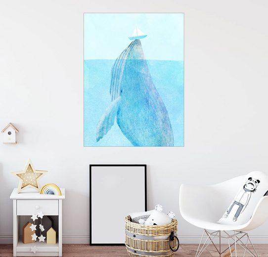 Posterlounge Wandbild - Eric Fan »Wal mit Schiffchen«
