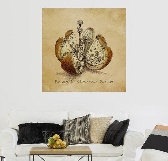 Posterlounge Wandbild - Eric Fan »Steampunk Orange«