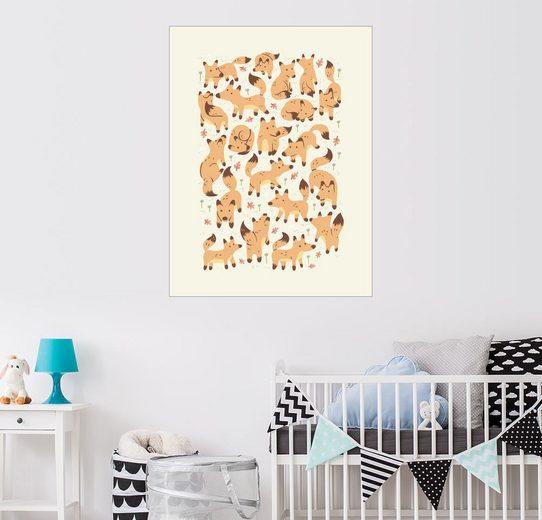 Posterlounge Wandbild - Greg Abbott »foxes«