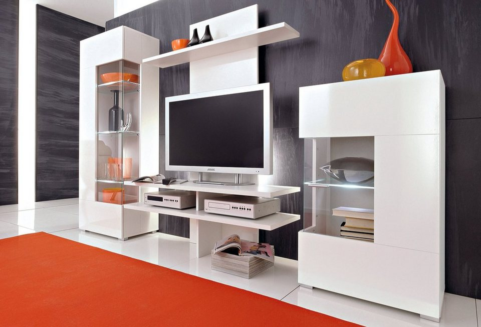 anbauwand 3 tlg online kaufen otto. Black Bedroom Furniture Sets. Home Design Ideas