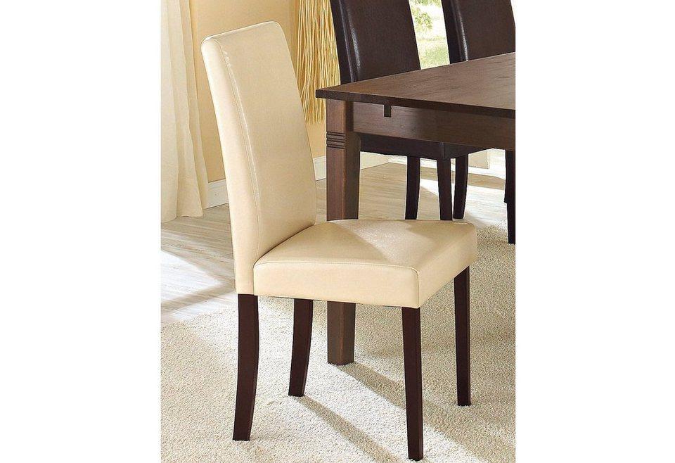 Stühle, Home affaire, »Roko« Kunstleder (2er, 4er, 6er Set) in beige