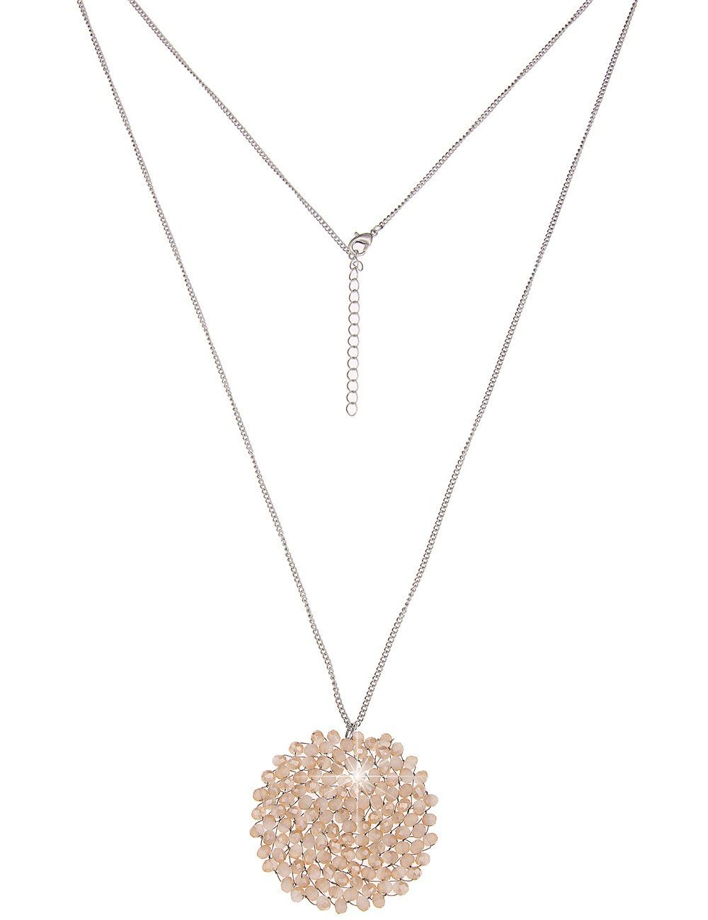 Leslii Halskette mit Glasperlen-Scheibe
