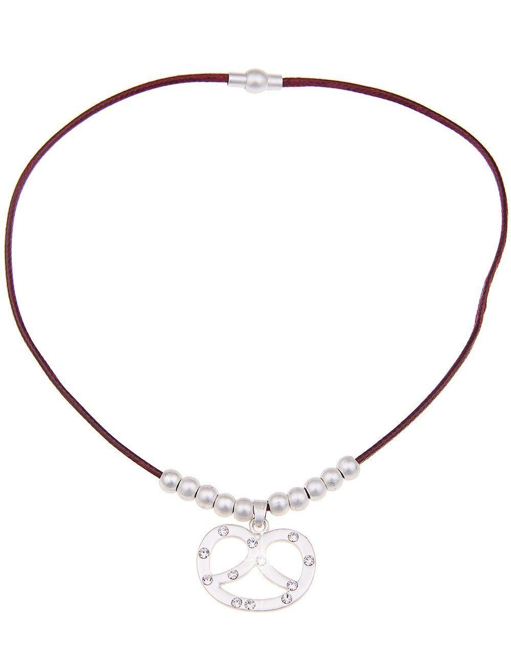 Leslii Halskette mit Brezel-Anhänger